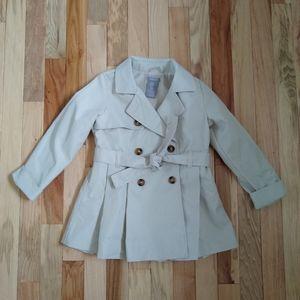 Tahari Trench Coat 5T Toddler Girl Khaki Rain Jack